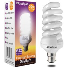 iBoutique 30W Bayonet Daylight Energy Saving Light Bulb Output 150W