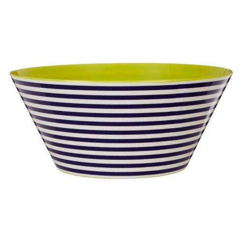 Mimo Stripe Salad Bowl, Melamine, Multi-Coloured