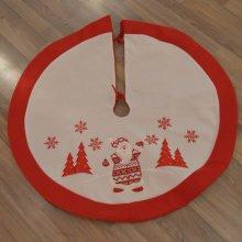 Deluxe 95cm Diameter Fabric Christmas Tree Skirt with Santa