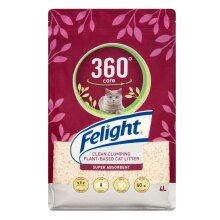 Bob Martin Felight 360° Cat Kitty Litter Care Clean Clumping Soy Plant Based 4L