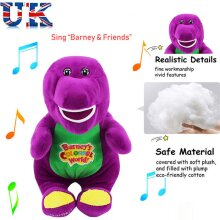 Barney The Dinosaur Sing I LOVE YOU Song Soft Plush Doll Toy 12''