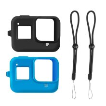 For GoPro HERO 8 Silicon Soft Case Protective Dirtproof Skin Cover with Lanyard