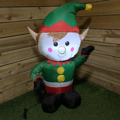 Premier 1.1M Inflatable Indoor Outdoor Lit Elf