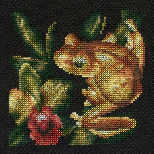 Counted Cross Stitch Embroidery Kit by Panna J-0399 Golden Frog