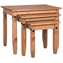 3pc Home Discount Rustic Corona Nesting Tables