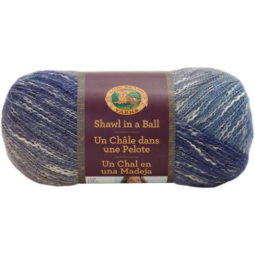 Soothing Blue Yarn Lion Brand Yarns Shawl In A Ball