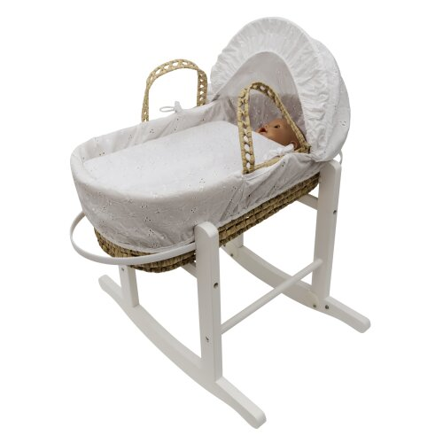 White BA Dolls Moses Basket and Stand Toy