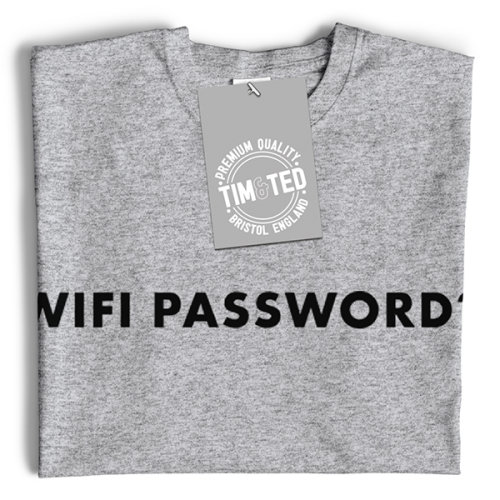 Nouveauté Nerd T Shirt Wifi Password Slogan Geek Informatique Internet