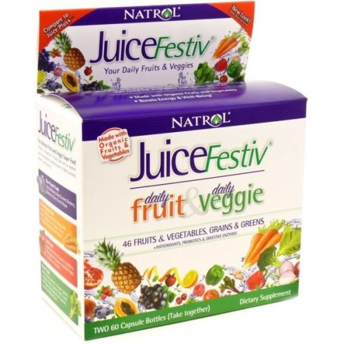 Natrol  JuiceFestiv,  Daily Fruits & Veggie -  60 + 60 caps