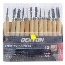 Dekton Carving Knife Set - Wood Chisels Piece Carvers Working Tool 12pc Tools -  wood carving chisels set piece carvers working tool 12pc tools