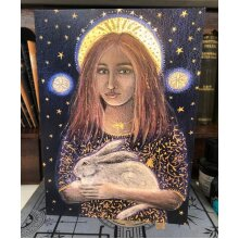 St Melangell Greetings card by Hannah Willow