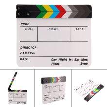 Acrylic Clap Clapper Clapperboard Board Film Movie Action Scene Slate