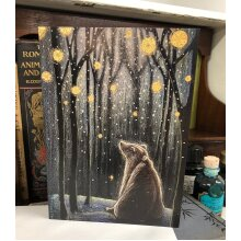 Foretelling the Snow greetings card by Hannah Willow