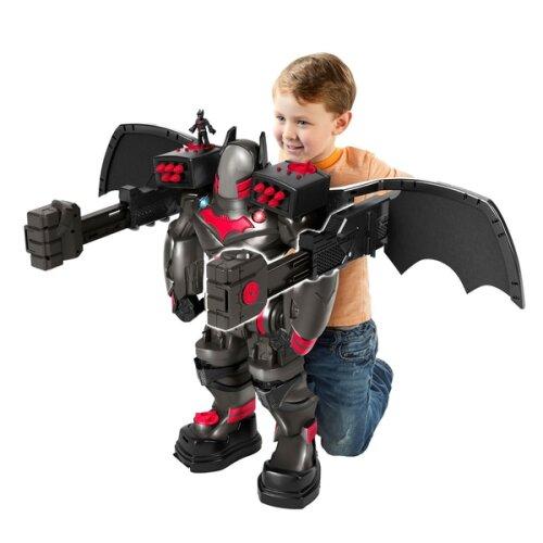 Imaginext DC Super Friends Batbot Xtreme,Voice Changer, Launcher, New
