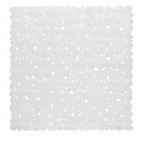 TM-ROC-ST-21 21 x 21 in. Stall Pebbles Vinyl Bath Mat, White