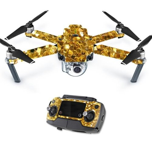 MightySkins DJMAVPRO-Gold Chips Skin Decal Wrap for DJI Mavic Pro Quadcopter Drone Cover Sticker - Gold Chips
