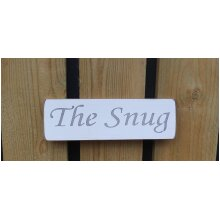 British Handmade wooden sign The Snug