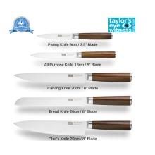 Taylors Eye Witness Portland Walnut 5pc Kitchen Knife Set
