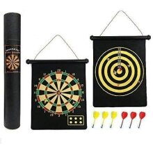 Strong Magnet Dartboard Game Roll Up 6 Magnet Darts Double Sided Safe For Kids Children Adults Dart Board Game Party Set Gift Boxed