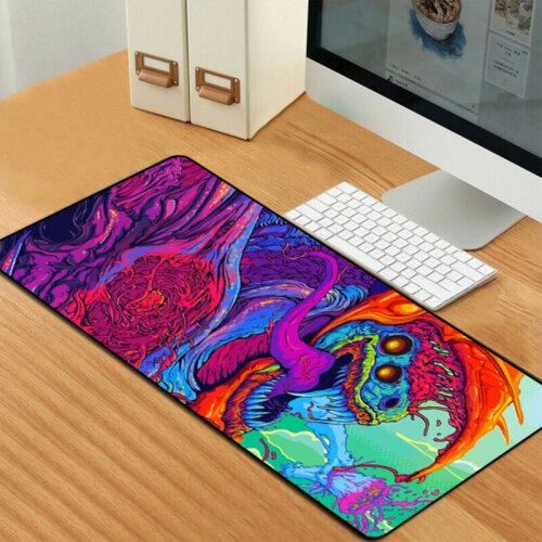 90x40cm Gaming Mouse Pad Large Desk Mat Laptop Keyboard Non-Slip Awesome Gamer