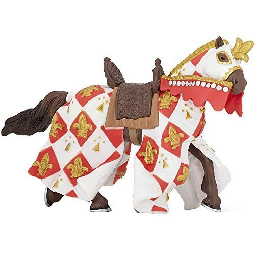 Papo Horse of Knight Ram Blue Fantasy Figure NEW 39914