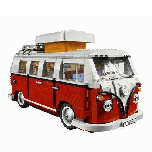 Volkswagen T1 Camper Van Car Model Compatible Model Building Blocks