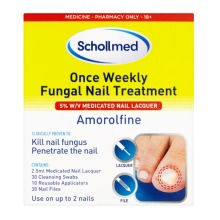 Schollmed Fungal Nail Treatment, 5% Medicated Nail Lacquer, 2.5 ml