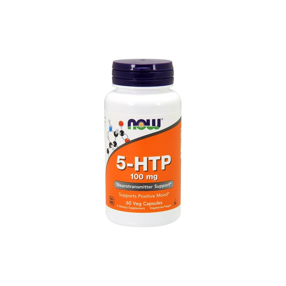 Now Foods, 5-HTP, 100 mg, 60 Veg Capsules