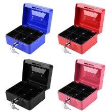 Key Lock Tin Safe Lockable Small Money Box