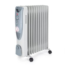 PureMate 2500W Oil Filled Radiator With 11 Heating Fins - Portable Electric Heater