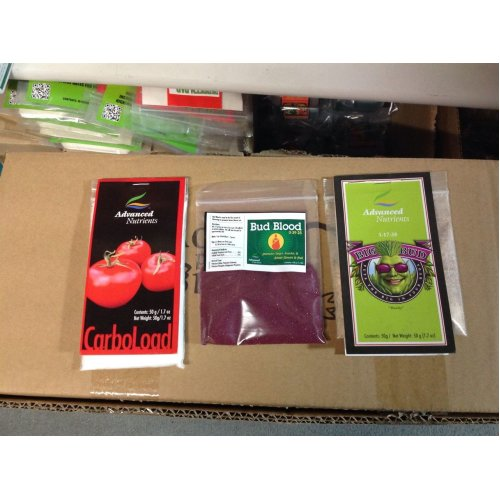 ADVANCED NUTRIENTS TRI PACK ,BIG BUD,BUD BLOOD, CARBO  LOAD  SACHETS X 3 BAGS WOW WEE