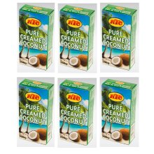 6 x 200g KTC Pure Creamed Coconut Cream For Ingredient Thickening