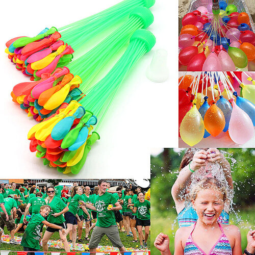(333 Fast Fill Magic Water Balloons Self Tying Bunch O Balloon Bombs Summer Toys Assorted Colour) Fast FIll Water Balloons