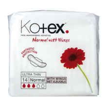Kotex Ultra Thin Normal With Wings - 14 Pads