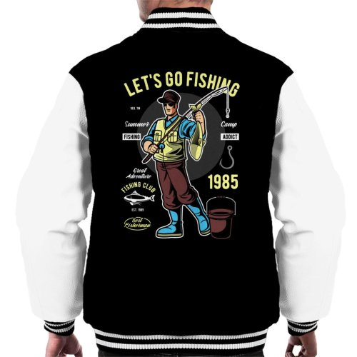 Lets Go Fishing Men's Varsity Jacket