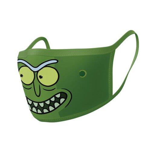 Official Rick & Morty Pickle Rick Face Masks (2 Pack)