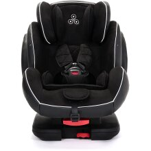 Ickle Bubba Solar ISOFIX Car Seat | Group 1-2-3 from 9kg to 36kg | Magnetic Buckle Closure, Top Tether | Reclining Car Seat | Black