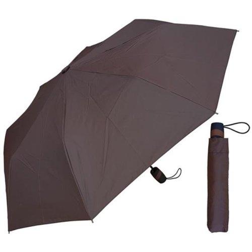 RainStoppers W1505CHOC-BRW 42 in. Auto Open Chocolate Brown Super Mini Umbrella, 6 Piece