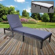 Rattan Sun Lounger Day Bed Recliner Garden Patio Furniture Outdoor Indoor Wicker