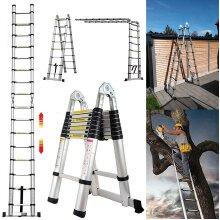 Multi-Purpose 5M Aluminium Portable Telescopic Ladder Extendable A-Frame