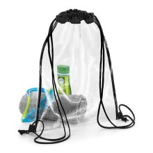 BagBase 11L Clear Gymsac Sports Swimming PE Gym Dance Football Drawstring Bag