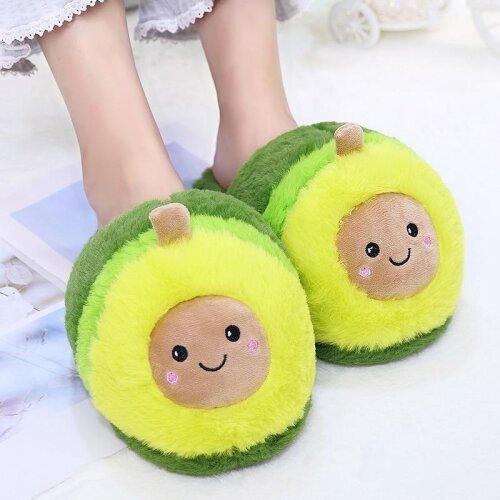 Plush Avocado Slippers Fruit Toys -Cute Pig unicorn Warm Shoes