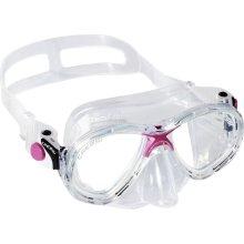 Cressi Kids Marea Jr Scuba Diving and Snorkeling Junior Mask - Transparent/Pink