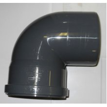 Soil Pipe 90 Degree Bend 110 mm Inlet - Push Fit - Grey - Waste