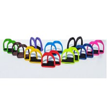 """PLASTIC STIRRUPS FOR HORSE RIDING 4.5"""" AVAILABLE IN MANY COLOURS"""