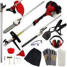 T-Mech 5-in-1 Petrol Garden Tool | Brush & Grass Cutter, Trimmer & Chainsaw