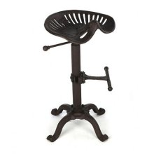 Vintage Cast Iron Tractor Seat | Rustic Industrial Bar Stool