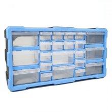 22 Drawer DIY Storage Organiser Unit Parts Box Stationary Cabinet