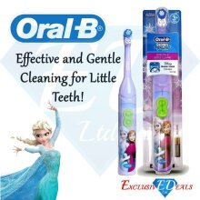 Kids Electric Toothbrush Tooth Brush Childrens 3+ Oral B Disney Frozen Elsa & Anna