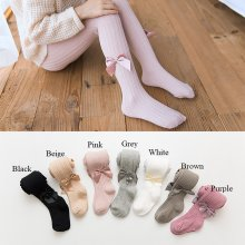 Pantyhose for Girls Bowknot Knit Leggings Pants